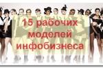 15 моделей инфобизнеса